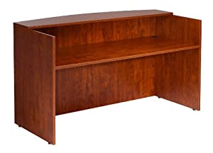 Boss 71 W by 30/36 D by 42 H Reception Desk, Cherry