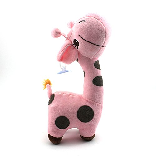 HuntGold 1X Soft Plush Giraffe Shape Baby Christmas Gift Infant Boy Girl Xmas Toy Doll(pink)