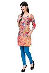 Kurti Collection pure cotton digitally printed magical paisley ethnic kurti fabric material (Unstitched)