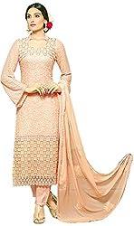 KALAKAR Women's Chiffon Dress Material (Light Pink)