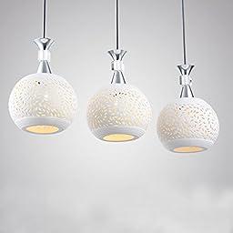 Winson Stylish design Elegant Vintage Style Pendant ceiling Light Shade Stylish Pendant LightsLed lamp Chandelier , ceramic disc 3 Straight Header Chandelier