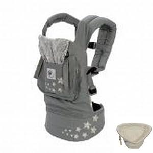ergobaby ergo carrier babytrage inkl neugeboreneneinsatz galaxy grey natural baby. Black Bedroom Furniture Sets. Home Design Ideas