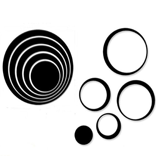 Iuhan® Fashion 1 Set Indoors Decoration Circles Creative Stereo Removable 3D DIY Wall Stickers