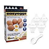 BRAND NEW 4 x EASYEGGS BOIL NO SHELL 1 x EGG YOLK WHITE SEPARATOR PLASTIC KITCHEN