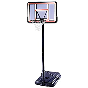 Lifetime 1269 Pro Court Height Adjustable Portable Basketball System, 44 Inch Backboard