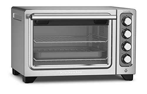 KitchenAid KCO253CU 12-Inch Compact Convection Countertop Oven - Contour Silver (Small Countertop Convection Oven compare prices)