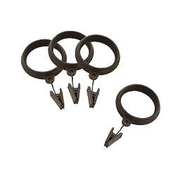 Allen Roth Metal Clip Rings, Burled Wood