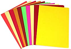 PIGLOO Pack of 90+ A4 Size Multi GSM Color Paper Sheets for Art and Craft (Assorted Colors)