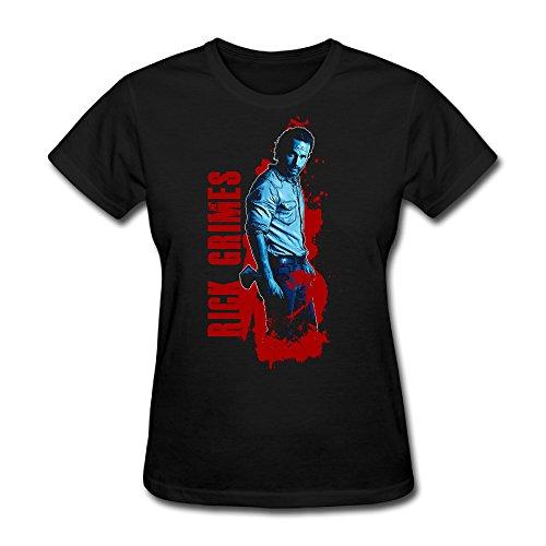 YOLO Walking Dead Rick Grimes Women's T-Shirt XL Black