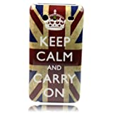 Retro Stlye UK Keep Calm Hard Skin Case Cover for Samsung Galaxy S Advance I9070 + One Phone Sticker