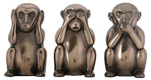 Monkeys Hear No Evil , See No Evil and Speak No Evil Collectible Statue Figurine