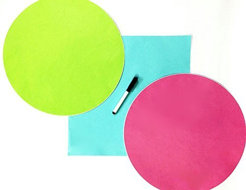 Selenine Wall Pops Peel & Stick Dry Erase Dots and Message Board Decals with Marker Pen