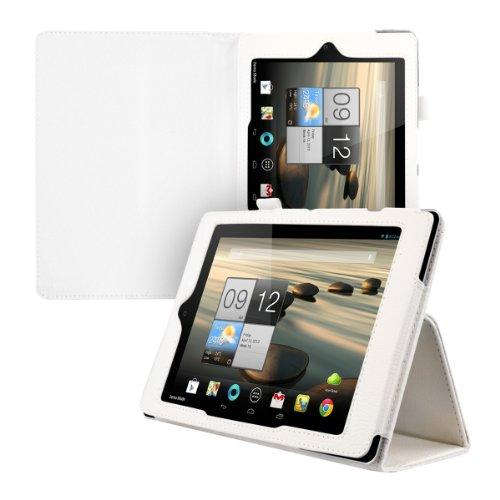 kwmobile Hülle für Acer Iconia A1-810 / A1-811 mit Ständer - Kunstleder Tablet Case Cover Tasche Schutzhülle in Weiß