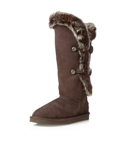Australia Luxe Collective Women's Nordic Angel Over-the-Knee Fox Fur Boot