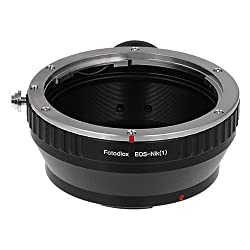 Fotodiox Lens Mount Adapter Canon EOS Lens to Nikon 1-Series Camera fits Nikon V1 J1 Mirrorless Cameras fits EOS EF and EF-S lenses