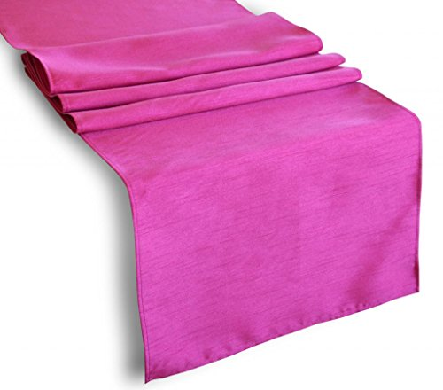 """Creative 13""""X 36"""" Classic Solid Table Top Runner - Hot Pink front-596235"""