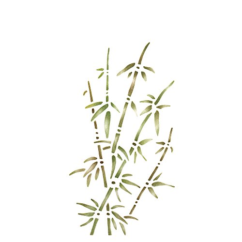 RAYHER - 3842500 - Malschablone, Bambus, 15x30 cm