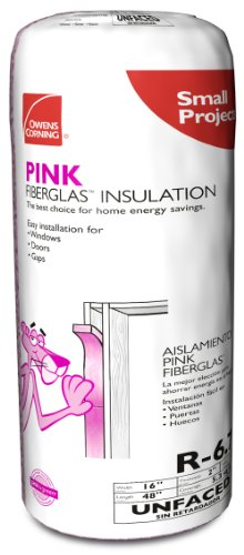 Owens-Corning 111781 A85 Multi-Purpose Unfaced Insulation Roll, R-6.7 Insulation Value, Perfect for Small Projects