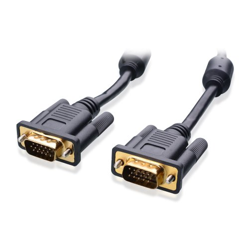 Cable Matters Gold Plated Vga Monitor Cable With Ferrites 15 Feet, 100% Bare Copper