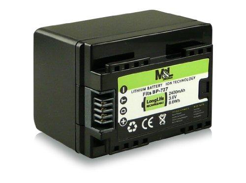 Akku / Batterie wie BP-727 BP727 für Canon LEGRIA HF M52 | HF M56 | HF M506 | HF R36 | HF R37 | HF R38 | HF R46 | HF R47 | HF R48 | HF R306 | HF R406 - Canon VIXIA HF M50 | HF M52 | HF M500 | HF R30 | HF R32 | HF R40 | HF R42 | HF R300 | HF R400 und weitere... [ Li-ion; 2400mAh; 3.6V ]