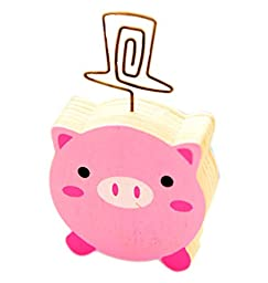 Cartoon Memo Holder Message/Photo/Card Holder Clips, Pig Shape