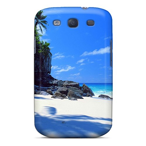 Hot Tpu Cover Case For Galaxy/ S3 Case Cover Skin - Blue Ocean Beach Cliff Island Palm Hotel front-988518
