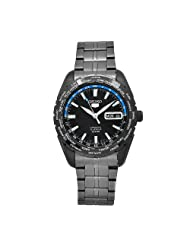 Seiko Men's SNZG57 Sports Black Stainless-Steel Automatic World Time Watch