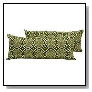 Cirque Decorative Green Throw Pillows