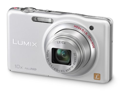 Panasonic DMC-SZ7EB-W White 10x Super Zoom Camera with 25mm LEICA Lens and Full HD Movie