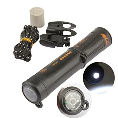 Vktech® 10 In 1 Survival Emergency Kit LED Flashlight Compass Flint With Outdoor Tool from Vktech