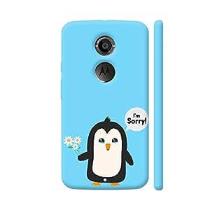 Colorpur Penguin Apology Artwork On Motorola Moto X2 Cover (Designer Mobile Back Case) | Artist: Torben