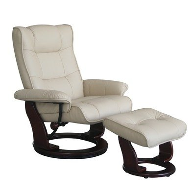 Top Line Monterey European Leather Recliner And Ottoman In Taupe Review