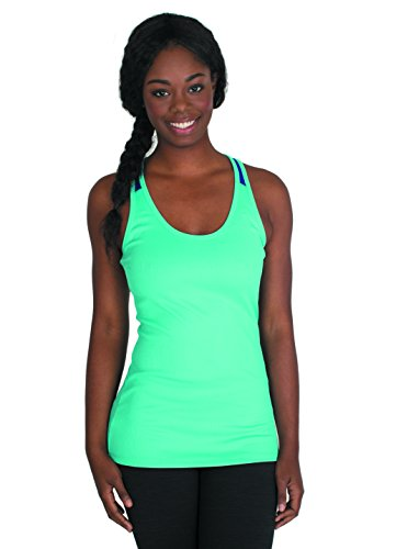 RBX Active Women's Ribbed Mesh Performance Tank Top,Small,Ocean Blue