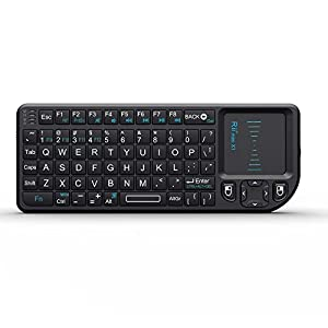 Rii Mini Wireless Keyboard with Mouse Touchpad-Black