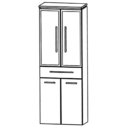 Perfect Cool Line Tall Cupboard (HNA05 6B5 W) Bathroom, 60 cm