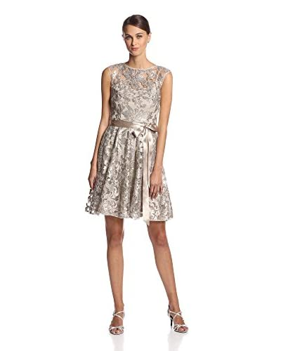 JS Boutique Women's Lace Overly Cocktail Dress with Belt