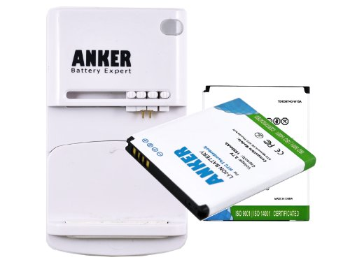 Anker 2 x 1550mAh Li-ion Batteries for HTC ThunderBolt 4G, Merge, MyTouch 4G, PD42100, Free Anker Multi-purpose USB Travel Charger