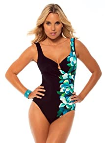 Miraclesuit Women's Plus Size One Piece Lingerie Strap Tank Swimsuit