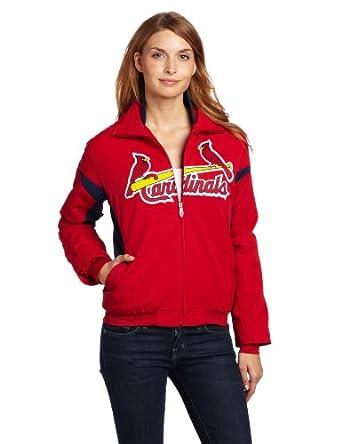 MLB St. Louis Cardinals Triple Peak Ladies Jacket, Red Navy by Majestic