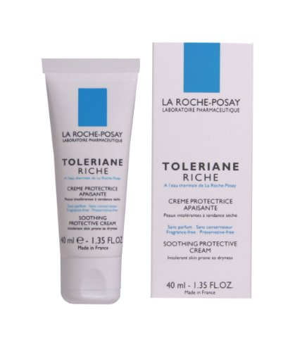 La Roche-Posay Toleriane Riche Soothing Protective Facial Cream, 1.35-Ounce
