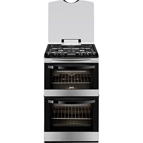 Zanussi ZCG43200XA Stainless Steel 55cm Double Oven Gas Cooker