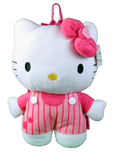 "Hello Kitty 16"" Plush Backpack (Lines) - 1"