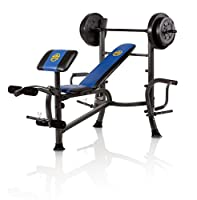 Marcy Marcy 80 lb. Vinyl Weight Set Bench Combo with Butterfly