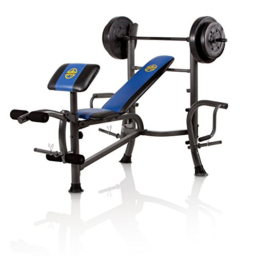 Marcy Opp Bench And 80-Pound Weight Set front-109290