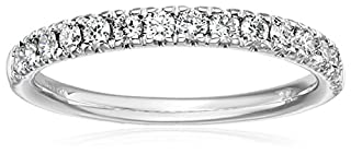 IGI Certified 14k White Gold Diamond Prong Anniversary Ring (1/4cttw, H-I Color, SI2-I1 Clarity), Size 7