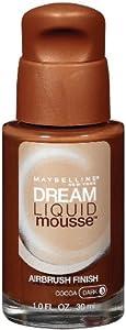 Maybelline York Dream Liquid Mousse Foundation, Cocoa Dark 3, 1 Fluid Ounce
