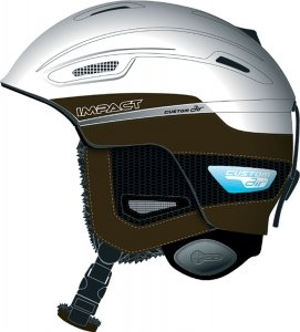 Salomon Herren Skihelm Impact Custom Air, white/matt, 58 cm - 59 cm (L), 102766_