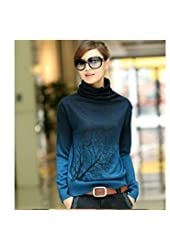 2014 New Korean of Women's Cashmere Sweater With High Collar