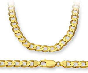 ChainCo 9ct Yellow Gold 28g Curb Necklace of  51cm/20 Inch Length and  7.3mm Width