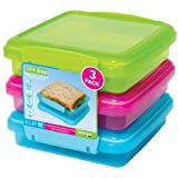 Sistema Sandwich Box 3 Pack, 450ml, Coloured - (18016470)
